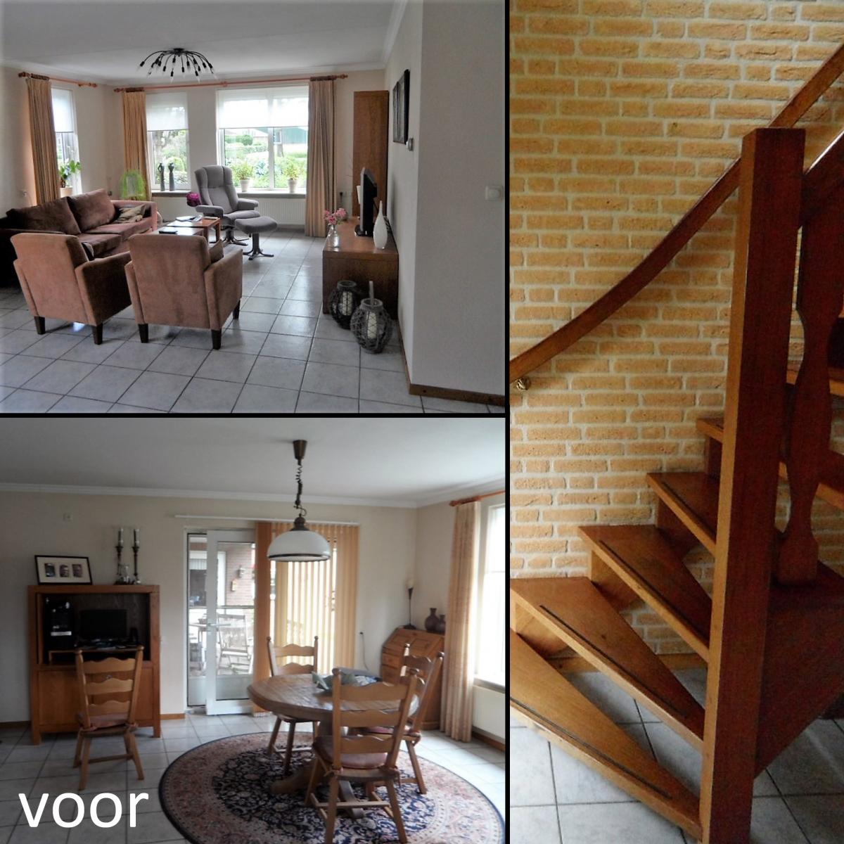 Indelingsontwerp, kleuradvies en raamdecoratieadvies woonkamer en ...