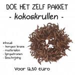 kokoskrullen krans 30 cm