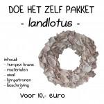 landlotus wit krans 30 cm