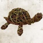 Schildpad van wilgentenen